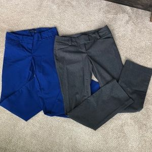 TWO pairs of Exact Stretch Pants The Limited